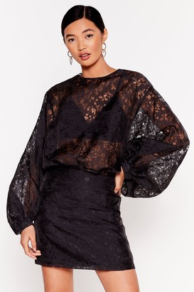 Nasty Gal Womens Grow Your Facts Organza Mini Dress - Black