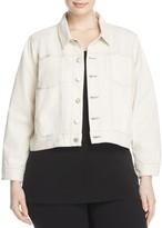 Eileen Fisher Plus Cropped Denim Jacket - 100% Exclusive