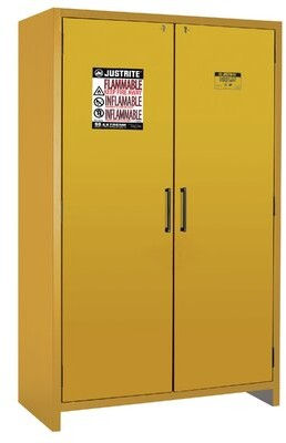 "76.89""H x 35.16""W x 24.21""D 2 Hybrid-Close Door EN Flammable Safety Cabinet Justrite"