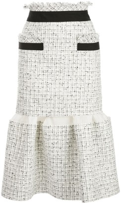 Sacai Fitted Tweed Skirt