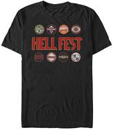 Fifth Sun Men's Tee Shirts BLACK - Hell Fest Rides Tee - Men