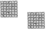 Cezanne Pave Square Stud Earrings