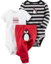 Carter's Baby Boys' 3-Pc. Penguin Bodysuits & Pants Set