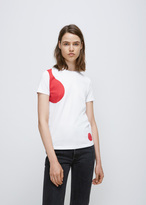 Courreges white/red bubble theme ss tee