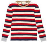 Gucci Striped cashmere merino knitted top