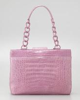 Nancy Gonzalez Crocodile Small Chain-Strap Tote Bag, Lilac