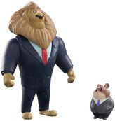 Tomy Disney's Zootopia Mayor Lionheart & Lemming Businessman Character Figure Set by