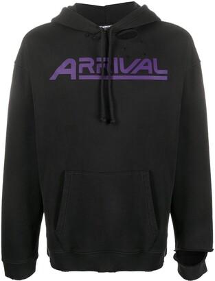Raf Simons Arrival distressed hoodie