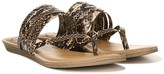 Fergalicious Silvia Snake-Embossed Strappy Sandal