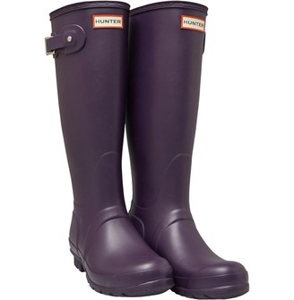 Hunter Womens Tall Wellington Boots Cavendish Blue