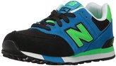 New Balance Kids' 574 Fashion Sneaker Cut Paste (LK) Running Shoe