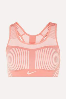 Nike Fe/nom Striped Flyknit Sports Bra - Pink