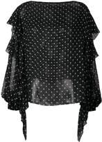 Alexandre Vauthier polka dot blouse