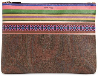 Etro Coated Canvas Pouch