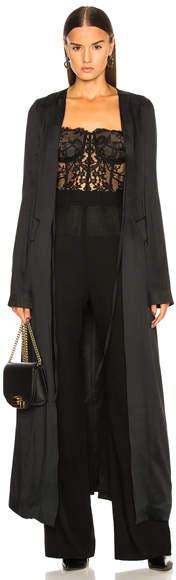 Ann Demeulemeester Satin Coat Gown