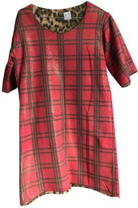 Jijil Red Cotton Dress for Women
