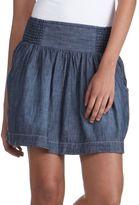 Lucky Brand Jeans Slub-Chambray Miniskirt