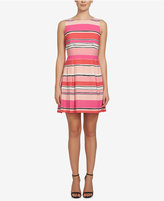 CeCe Claiborne Striped Fit & Flare Dress
