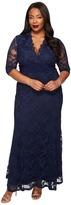 Kiyonna Screen Siren Lace Gown Women's Dress