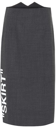 Off-White Stretch wool pencil skirt