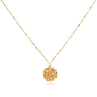 Coco Mango Jewellery Luxe 18K Gold Dahlia Coin Necklace