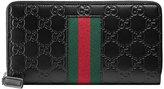 Gucci Signature Web wallet - men - Leather/Nylon - One Size