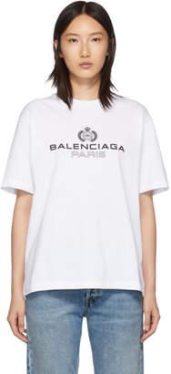 Balenciaga White Paris Laurel T-Shirt