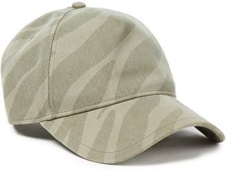 Rag & Bone Zebra-print Denim Baseball Cap