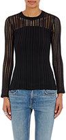 Alexander Wang Women's Perforated Jersey Top-BLACK