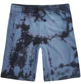 River Island Navy Tie Dye Shorts