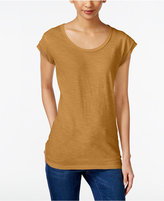 Style&Co. Style & Co Chiffon-Trim T-Shirt, Only at Macy's