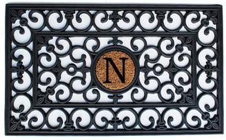 "N. Home & More Rubber Monogram Doormat 18""x30"", Letter"