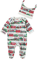 Cath Kidston London Streets Baby Sleepsuit & Hat Gift Set