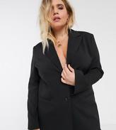 Asos DESIGN Curve pop suit blazer in black