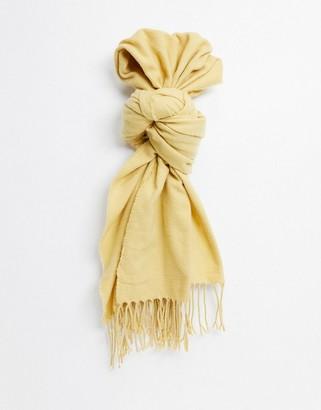 Monki Greta recycled polyester scarf in yellow