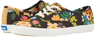 Keds x Rifle Paper Co. Champion Lively Floral (Black Printed Canvas) Women's Shoes