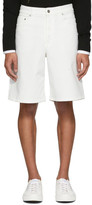 Givenchy White Denim Bermuda Shorts