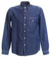 Kenzo Embroidered Light Blue Denim Shirt