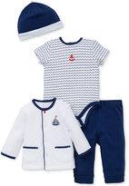Little Me 4-Pc. Little Waves Hat, Jacket, Bodysuit & Pants Set, Baby Boys (0-24 months)