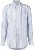 Brunello Cucinelli striped long sleeve shirt - men - Linen/Flax/Silk - XXL