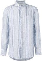 Brunello Cucinelli striped long sleeve shirt - men - Silk/Linen/Flax - XXL