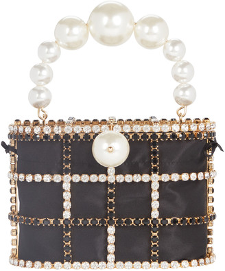 Rosantica Holli Cage Pearl and Crystal Clutch