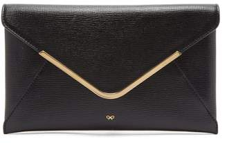 Anya Hindmarch Postbox Grained-leather Envelope Clutch - Womens - Black