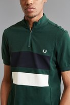 Fred Perry Colorblocked Pique Zip Polo Shirt