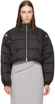 3.1 Phillip Lim Black Cropped Puffer Ski Coat
