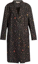 Preen Line Kiki floral-print stretch-cotton cord coat