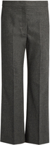 Stella McCartney Flared wool and cashmere-blend cropped trousers