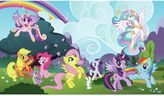 My Little Pony York Wallcoverings Ponyville Chair Rail Prepasted Mural