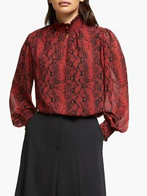 Somerset by Alice Temperley Python Print Blouse, Rust