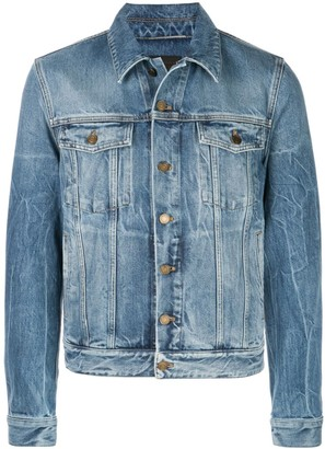 Saint Laurent creased effect denim jacket